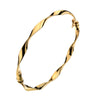 Gold Twist Hoop Earrings - 20mm from the Earrings collection at Argenteus Jewellery