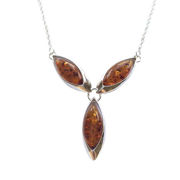 Amber Ellipse Necklace from the Necklaces collection at Argenteus Jewellery