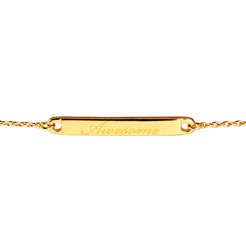 Narrate Awesome Engraved Bracelet In Yellow Gold-Plate from the Bracelets collection at Argenteus Jewellery