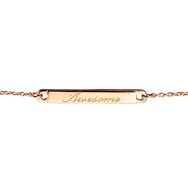Narrate Awesome Engraved Bracelet In Rose Gold-Plate from the Bracelets collection at Argenteus Jewellery