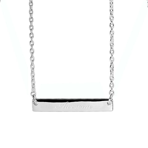 Narrate Awesome Engraved Necklace In Silver