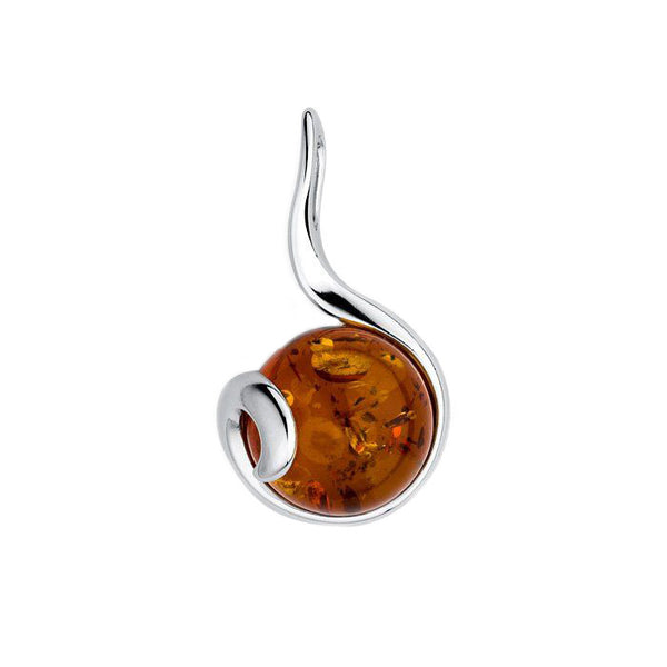 Amber Circle Pendant from the Pendants collection at Argenteus Jewellery