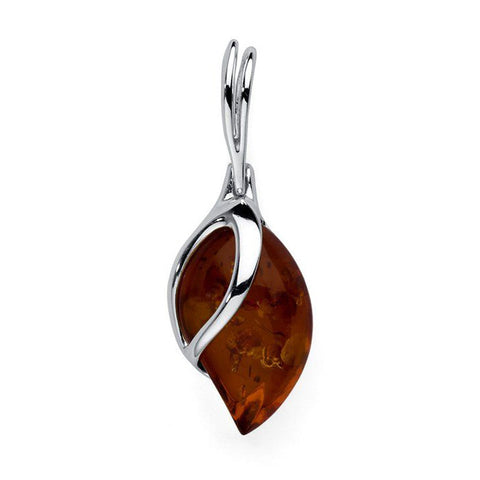 Amber Leaf Pendant from the Pendants collection at Argenteus Jewellery