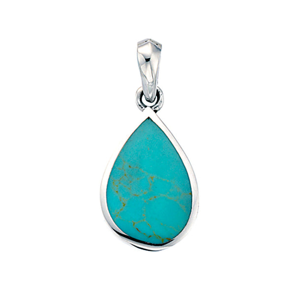 Turquoise Teardrop Pendant from the Pendants collection at Argenteus Jewellery