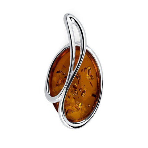 Amber Oval Pendant from the Pendants collection at Argenteus Jewellery