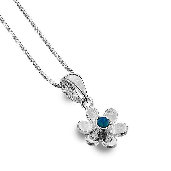 Daisy and Opal Necklace from the Necklaces collection at Argenteus Jewellery