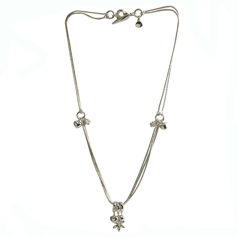 Hearts & Daisy Necklace from the Necklaces collection at Argenteus Jewellery