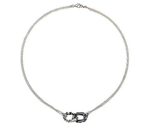 Organic Oxidised Links Silver Necklace from the Necklaces collection at Argenteus Jewellery