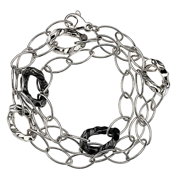 Organic Oxidised Links Bracelet from the Bracelets collection at Argenteus Jewellery
