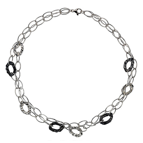 Organic Oxidised Links Necklace from the Necklaces collection at Argenteus Jewellery