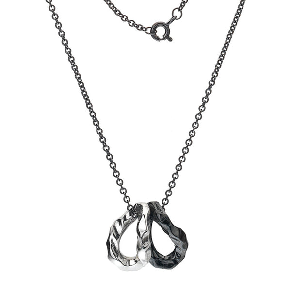 Organic Oxidised Links Charms Necklace from the Necklaces collection at Argenteus Jewellery