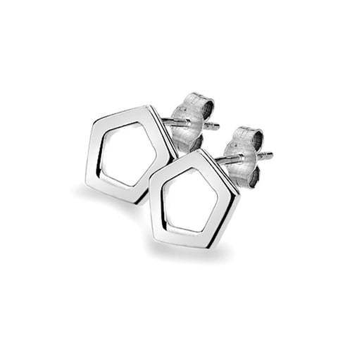 Pentagon Stud Earrings from the Earrings collection at Argenteus Jewellery