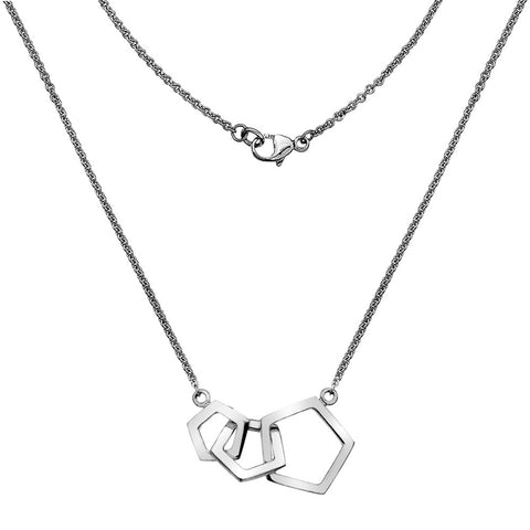 Pentagon Links Necklace from the Necklaces collection at Argenteus Jewellery