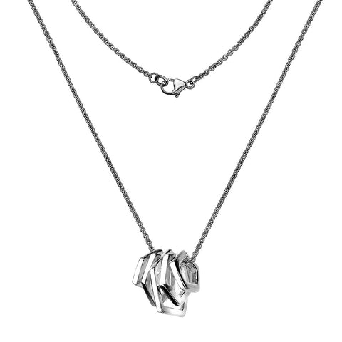 Pentagon Charms Necklace from the Necklaces collection at Argenteus Jewellery