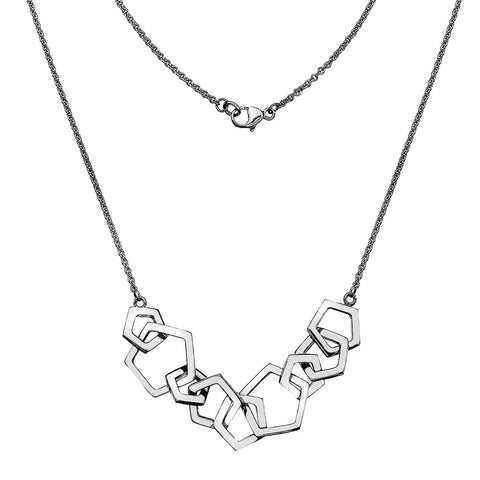 Pentagon Multi Links Necklace from the Necklaces collection at Argenteus Jewellery