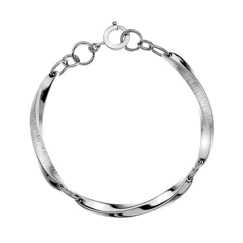 Pleats Texture Bracelet - Heavyweight from the Bracelets collection at Argenteus Jewellery