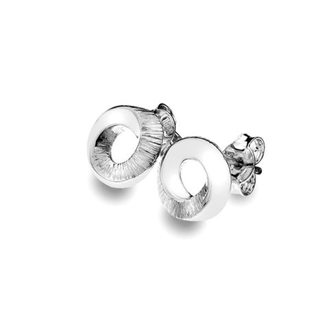 Pleats Texture Stud Earrings from the Earrings collection at Argenteus Jewellery