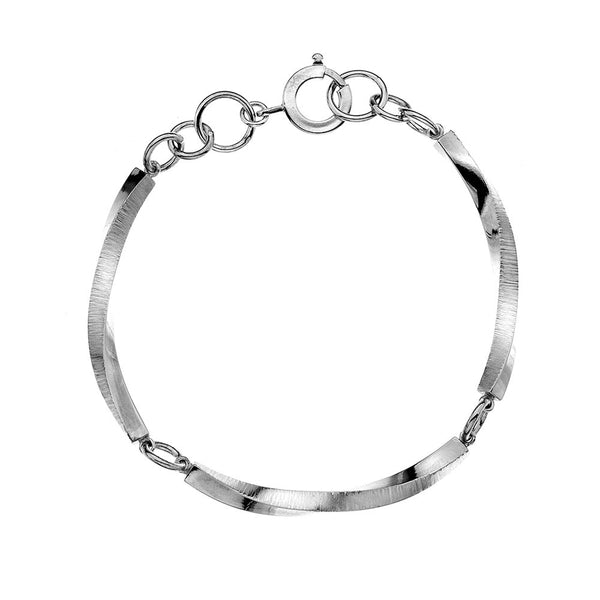 Pleats Texture Bracelet- Lightweight from the Bracelets collection at Argenteus Jewellery