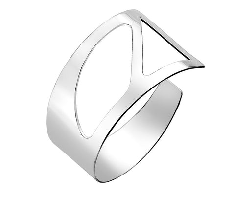Wide Cut-Out Torc Bangle from the Bangles collection at Argenteus Jewellery