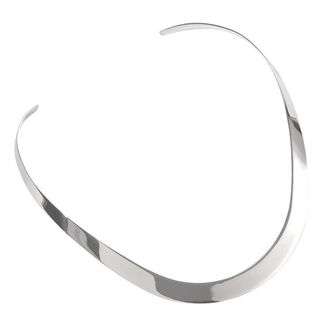 Tapered Flat Torc Necklace from the Necklaces collection at Argenteus Jewellery