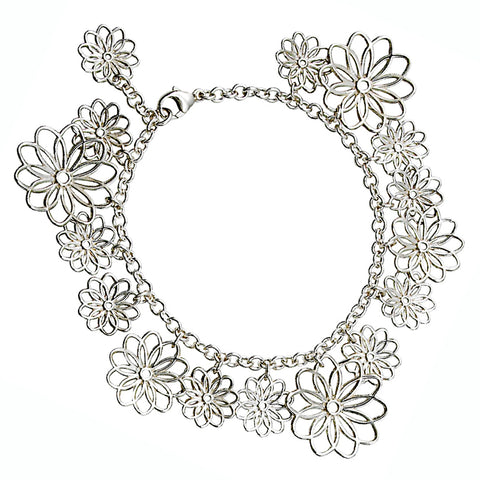 Multi Flower Bracelet from the Bracelets collection at Argenteus Jewellery