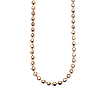 Virtue Keepsake Bead Chain 45cm - Rose Gold Plate from the Necklaces collection at Argenteus Jewellery