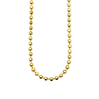 Virtue Keepsake Bead Chain 45cm - Yellow Gold Plate from the Necklaces collection at Argenteus Jewellery