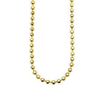 Virtue Keepsake Bead Chain 76cm - Yellow Gold Plate from the Necklaces collection at Argenteus Jewellery
