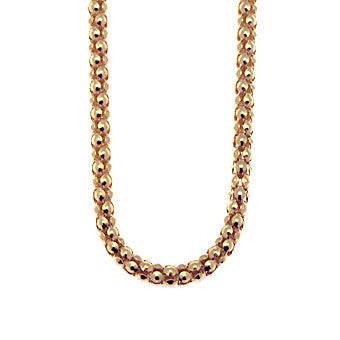 Virtue Keepsake Popcorn Chain 45cm - Rose Gold Plate from the Necklaces collection at Argenteus Jewellery
