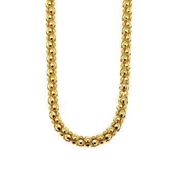 Virtue Keepsake Popcorn Chain 45cm - Yellow Gold Plate from the Necklaces collection at Argenteus Jewellery