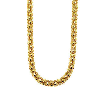 Virtue Keepsake Popcorn Chain 76cm - Yellow Gold Plate from the Necklaces collection at Argenteus Jewellery