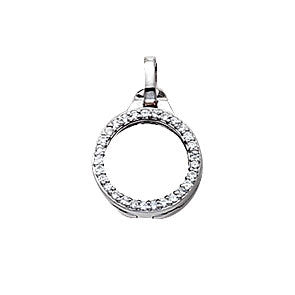 Virtue Keepsake Crystal Locket 10mm from the Pendants collection at Argenteus Jewellery