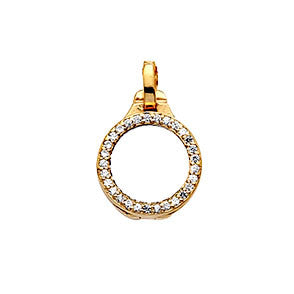 Virtue Keepsake Crystal Locket 10mm - Yellow Gold Plate from the Pendants collection at Argenteus Jewellery