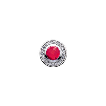 Virtue Keepsake Crystal & Red Glass Insert 10mm from the Keepsake Inserts collection at Argenteus Jewellery