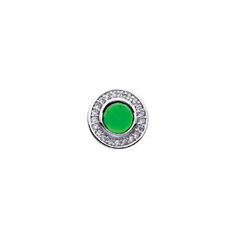 Virtue Keepsake Crystal & Green Glass Insert 10mm from the Keepsake Inserts collection at Argenteus Jewellery