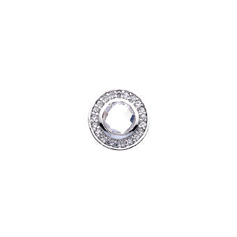 Virtue Keepsake Crystal & Clear Glass Insert 10mm from the Keepsake Inserts collection at Argenteus Jewellery