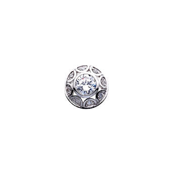 Virtue Keepsake Crystal Dome Insert 10mm from the Keepsake Inserts collection at Argenteus Jewellery