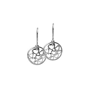 Virtue Keepsake Hearts Drop Earrings from the Earrings collection at Argenteus Jewellery
