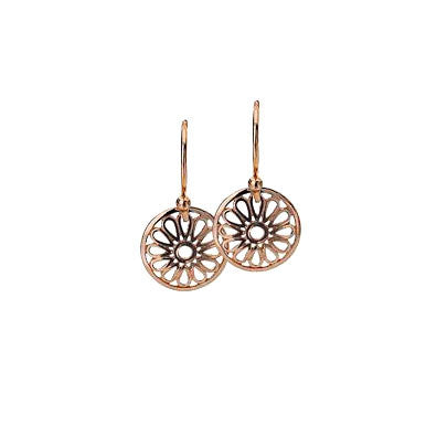 Virtue Keepsake Daisy Drop Earrings - Rose Gold Plate from the Earrings collection at Argenteus Jewellery