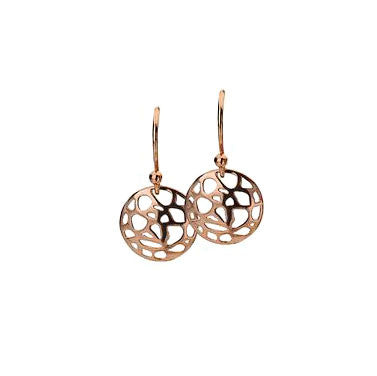 Virtue Keepsake Mosaic Drop Earrings - Rose Gold Plate from the Earrings collection at Argenteus Jewellery