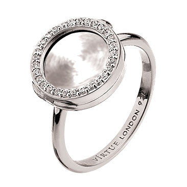 Virtue Keepsake Crystal Ring 10mm from the Rings collection at Argenteus Jewellery