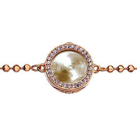 Virtue Keepsake Crystal Bracelet 10mm - Rose Gold Plate from the Bracelets collection at Argenteus Jewellery