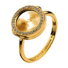 Virtue Keepsake Crystal Ring 10mm - Yellow Gold Plate from the Rings collection at Argenteus Jewellery