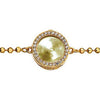 Virtue Keepsake Crystal Bracelet 10mm - Yellow Gold Plate from the Bracelets collection at Argenteus Jewellery