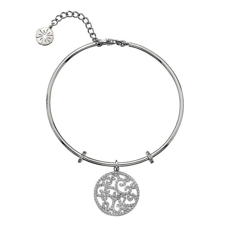 Virtue Keepsake Bangle - Crystal Paisley from the Bangles collection at Argenteus Jewellery