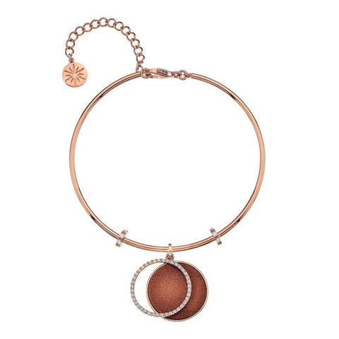 Virtue Keepsake Bangle -Rose Gold Plate Gold Sandstone from the Bangles collection at Argenteus Jewellery