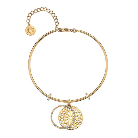 Virtue Keepsake Bangle - Yellow Gold Plate Sunflower from the Bangles collection at Argenteus Jewellery