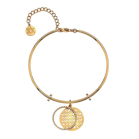 Virtue Keepsake Bangle - Yellow Gold Plate Butterflies from the Bangles collection at Argenteus Jewellery