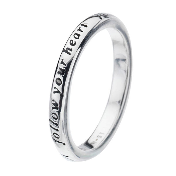 Virtue London Ring - 'Follow Your Heart' from the Rings collection at Argenteus Jewellery