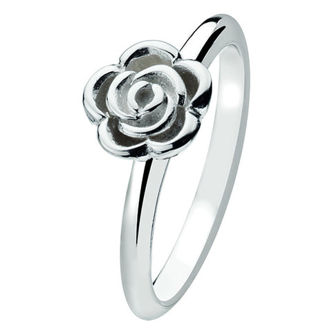 Virtue London Ring - Silver Rose from the Rings collection at Argenteus Jewellery